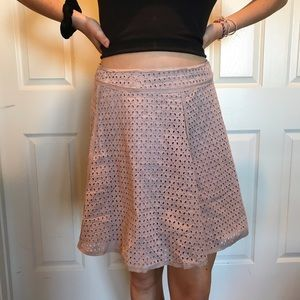 Muted Dusty Rose skirt